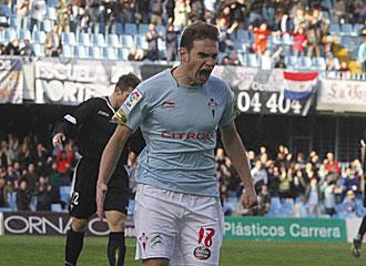 David Rodr�guez celebra un gol