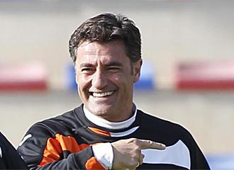 Michel durante un entrenamiento.