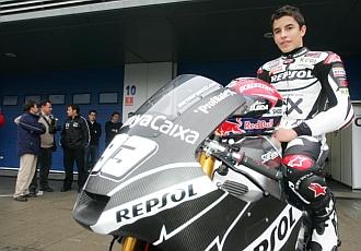 Marc M�rquez, en el circuito de Jerez.