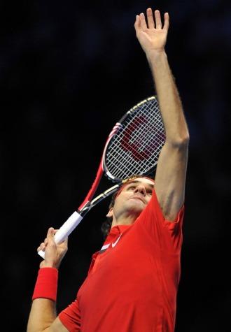 Roger Federer durante su partido ante Robin Soderling.