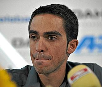 Contador, en rueda de prensa.