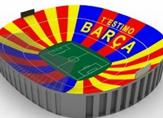 As� ser� el mosaico del Camp Nou el pr�ximo lunes