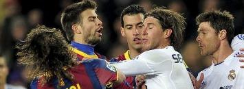 Ramos agrede a Puyol