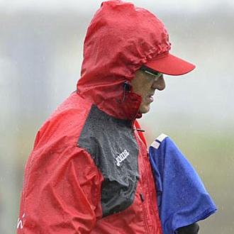 Gregorio Manzano dirige un entrenamiento del Sevilla