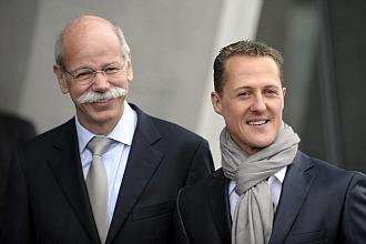 Michael Schuamcher y Dieter Zetsche