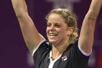 Kim Clijsters durante el WTA Championships.