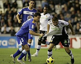 Joaqu�n, en el partido contra el Getafe
