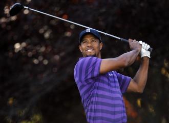 Woods golpea una bola