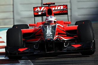 Timo Glock, en el Gran Premio de Abu Dhabi