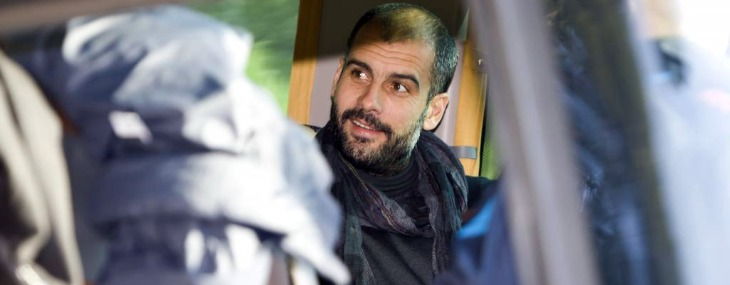 Guardiola, en el bus