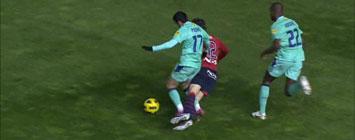 Pedro comete penalti sobre Juanfran