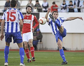 El Real Murcia no pudo con el Lorca Atl�tico en el derbi murciano disputado en el Art�s Carrasco