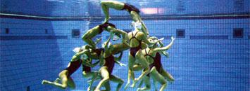 Equipo espa�ol de nataci�n sincronizada