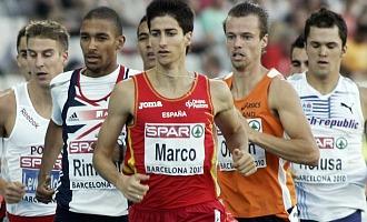 Luis Alberto Marco, en el centro de la imagen, durante el pasado Campeonato de Europa celebrado en Barcelona.