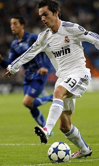Pablo Sarabia, durante el partido de este miércoles entre Real Madrid y Auxerre en el Bernabéu.