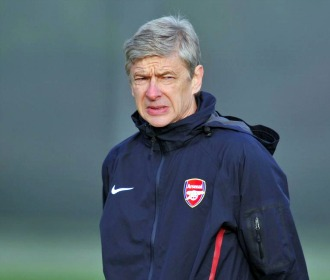 Wenger, en un entrenamiento del Arsenal.