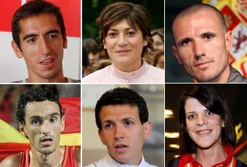 Varios de los atletas que firmaron el comunicado