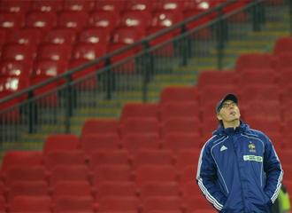 Blanc, durante la sesi�n de entrenamiento de la selecci�n francesa en Wembley