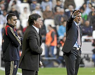 Camacho y Emery, en el partido de la temporada pasada en Mestalla