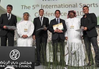 Gil Mar�n, junto a Capello, Van Basten y Cannavaro entre otros