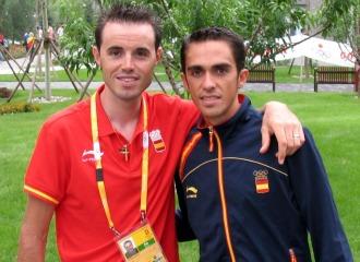 Samuel con Contador en Pek�n.