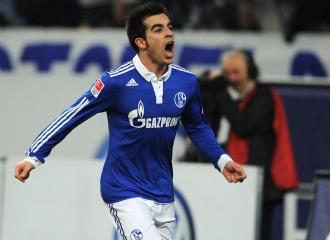 Jurado, celebrando un gol con el Schalke.