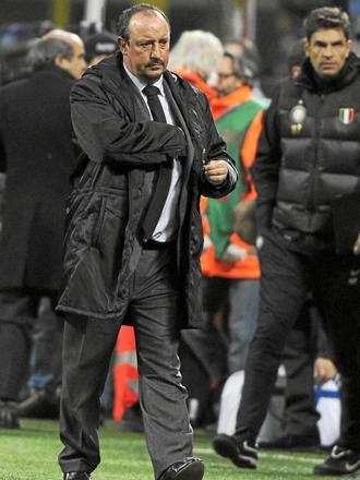 Rafa Ben�tez durante el encuentro de 'Champions' ante el Twente.