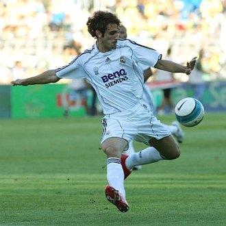 Juanfran, durante su etapa en el Real Madrid.