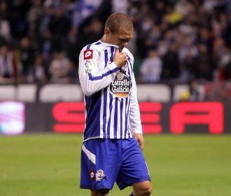 Juca, en un partido con el Deportivo.