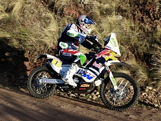 Coma, durante una etapa del Dakar 2011