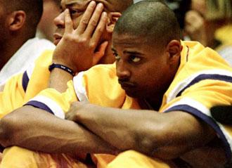 Mario Bennett en su �poca de jugador de los Lakers