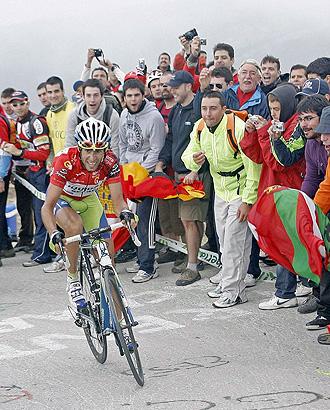 Vicenzo Nibali, en la subida a la Bola del Mundo del año pasado.