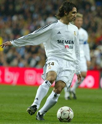 Juanfran, el d�a de su debut con el Real Madrid en Liga.
