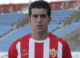 Juanito, con la camiseta del Almería en su anterior etapa.