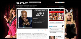 Entrevista a Lamar Odom en Playboy