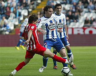 Sergio, en un encuentro con el Deportivo