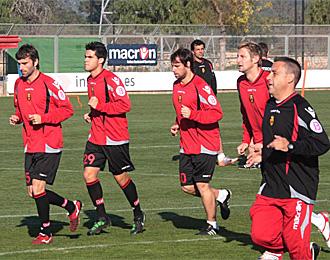 Tuni, en un entrenamiento del Mallorca