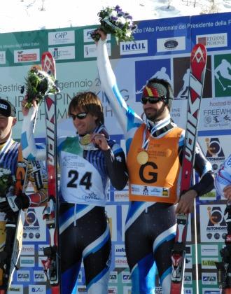 Jon y Miguel subieron a lo más alto del podio en gigante, supergigante y supercombinada en Sestriere (Italia).