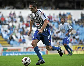 M�chel, en un partido con el Deportivo