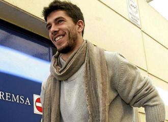 Vil�, en las instalaciones del Espanyol.