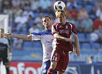 Keko, en un partido con el Cartagena contra el Tenerife