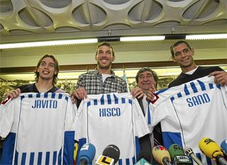 Javito, Xisco y Sand, presentados