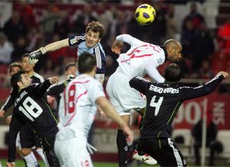 Lance del Sevilla-Real Madrid de la ida