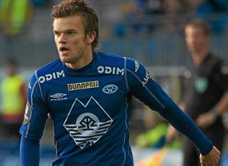 Rindaroey, durante un partido en Noruega.