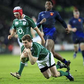 El duelo entre Irlanda y Francia, los dos �ltimos campeones, de la segunda jornada, marcar� el devenir del VI Naciones... especialmente si O'Driscoll vuelve a ensayar ante los galos