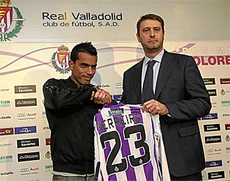 Ferreira, en su presentación con el Valladolid