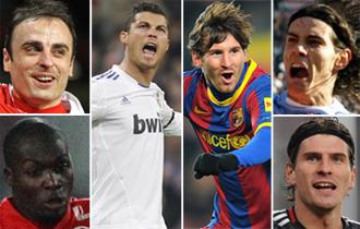 Los máximos goleadores en Europa.