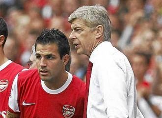 Cesc F�bregas y Ars�ne Wenger.