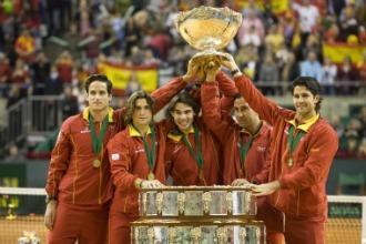 El equipo espa�ol de Copa Davis que gan� la Ensaladera en 2009.