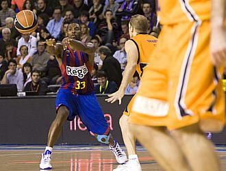 Pete Mickeal, en un partido de la ACB ante Gran Canaria